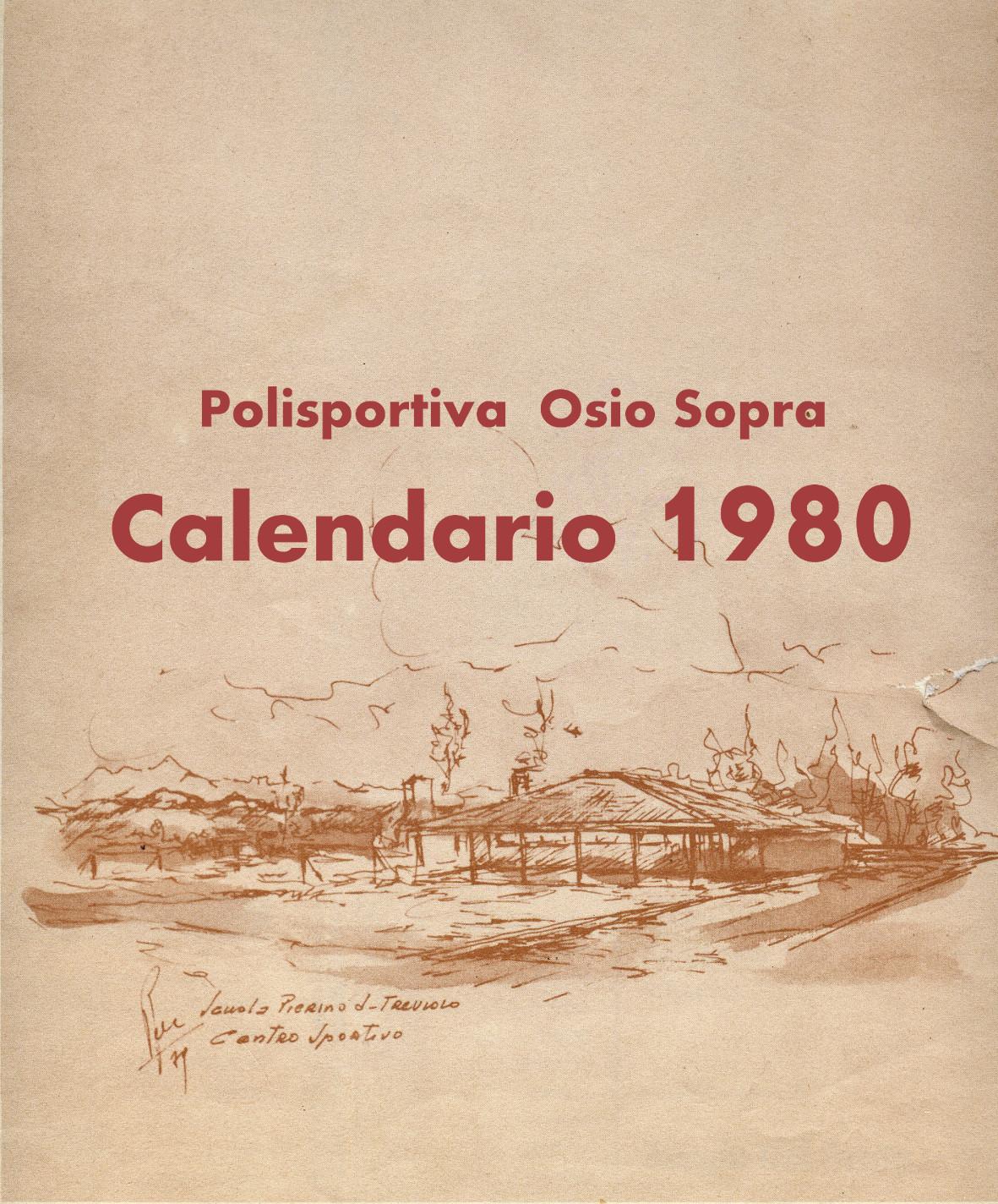Calendario Anno 1980.Calendario Pierino Da Treviolo 1980